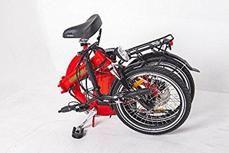 Greenbike USA GB5 Electric Motor Power Bicycle Lithium Battery Folding Bike folded
