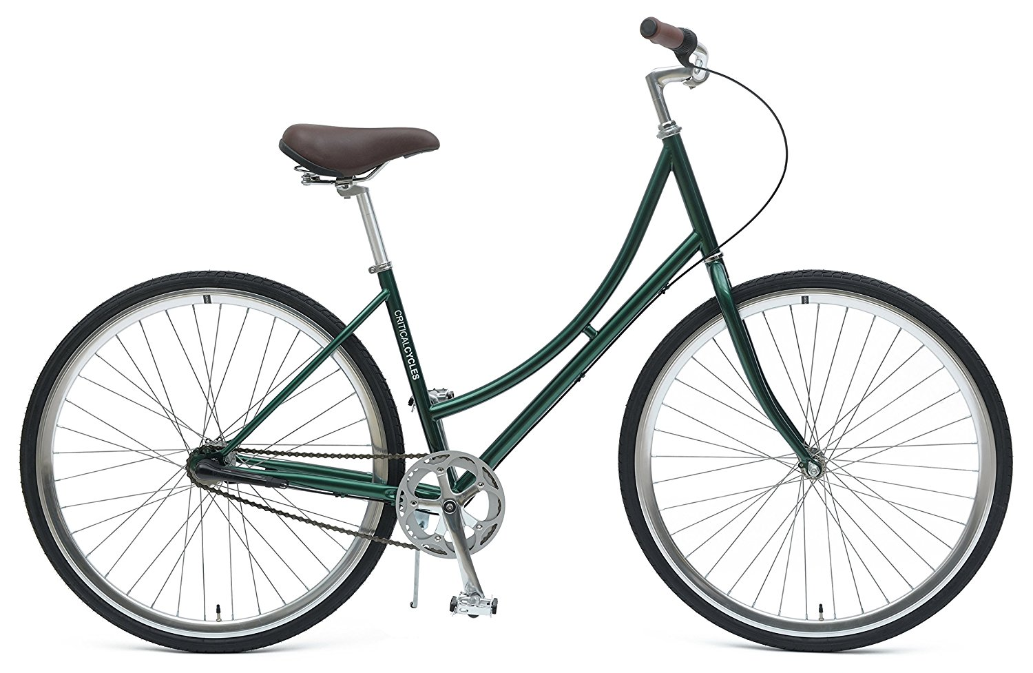 Critical Cycles Dutch Step-Thru 3-Speed City Coaster Commuter Bicycle, 44cm One Size