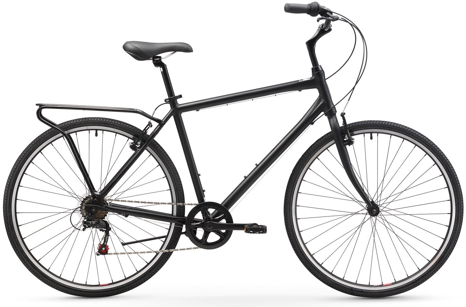 Men's 7-Speed Hybrid Commuter Bicycle, 20-Inch Frame 700C Wheels